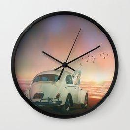 NEVER STOP EXPLORING A SUNDOWN Wall Clock