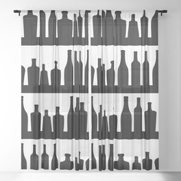 Classic Bottles Sheer Curtain