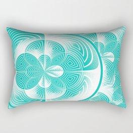 Light turquoise abstract Rectangular Pillow