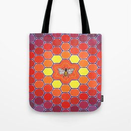 Bee Sacred Geometry Tote Bag