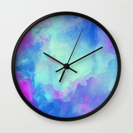 Watercolor abstract art Wall Clock