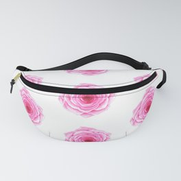 Pink roses abstract pattern in watercolor  Fanny Pack