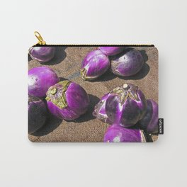 Fresh Aubergines - Market - Sicily Carry-All Pouch