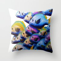 school Throw Pillows featuring school by Bocese