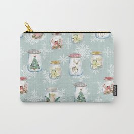 Christmas Jars Mint Carry-All Pouch