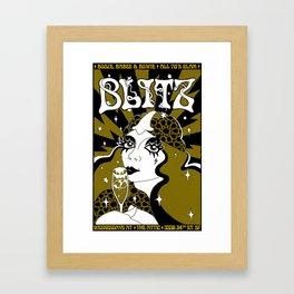 BLITZ - Glam Poster (after Barbara Hulanicki & Biba Magazine) Framed Art Print
