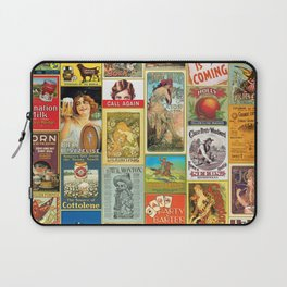 Antique Advertising Posters Laptop Sleeve