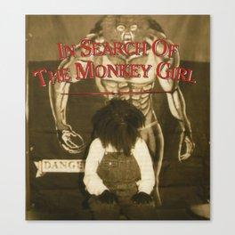 Monkey Girl Canvas Print