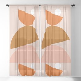 Abstraction_Color_Summer_Playful Sheer Curtain