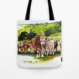 Herd It Throught the Grapevine Tote Bag