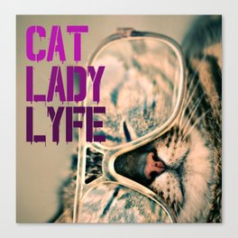 Cat Lady Lyfe Canvas Print
