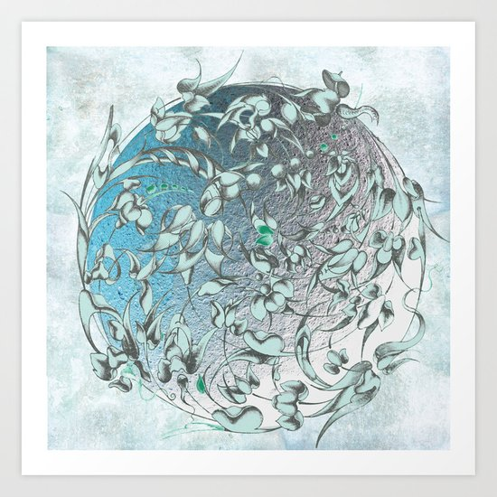 'The green world is man's sacred centre. Art Print