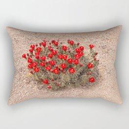 Sandia Cactus Flowers Rectangular Pillow