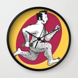 Finn running naked Wall Clock