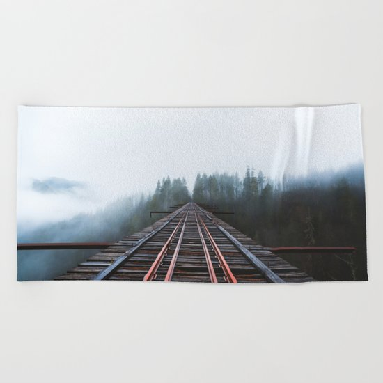 Abandoned Railroad Vance Creek Bridge - Olympic National Park, Washington Beach Towel