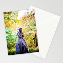 Eleanor Roosevelt Statue in Riverside Park Stationery Cards