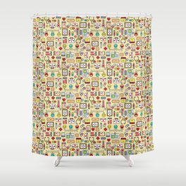 """""""Proud To Be A Nurse"""" Pattern Shower Curtain"""