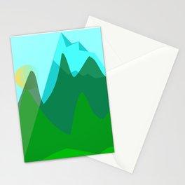 Alpine landscape Stationery Cards