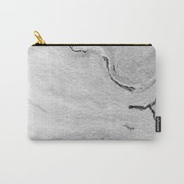 Gray & White Marble Pattern Carry-All Pouch