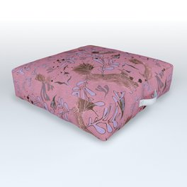 Pink fish pond Outdoor Floor Cushion