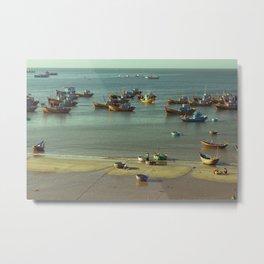 Fishing village Metal Print