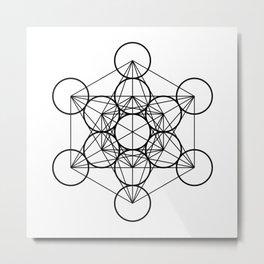 Metatron's Cube, sacred geometry, platonic solids Metal Print
