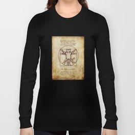 Vitruvian Cat Long Sleeve T-shirt