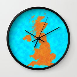 uk, united Kingdom, Outline, Map Wall Clock