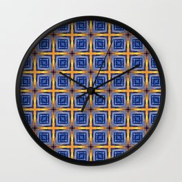 Sunset Sky Tiles Wall Clock