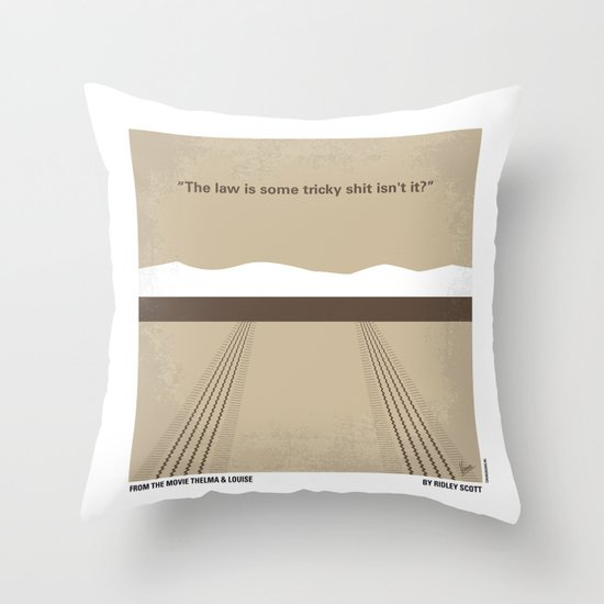 No189 My Thelma and Louise minimal movie poster Throw Pillow