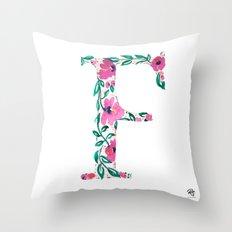 MONOGRAMS - F Throw Pillow