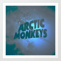 arctic monkeys Art Prints featuring Arctic Monkeys by SLIDE