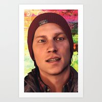 infamous Art Prints featuring InFamous: Second Son - Delsin Rowe by Felicia