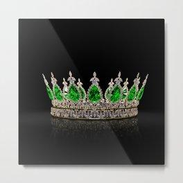 Emerald Jeweled Crown Metal Print
