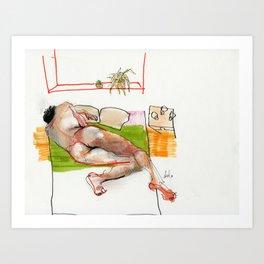 toss / turn Art Print