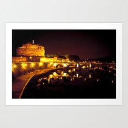 Castel sant'angelo Roma Art Print