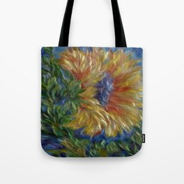 Sunflower Painting Tote Bag