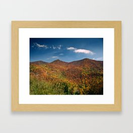 Autumn on the Mountains of the Parkway Framed Art Print