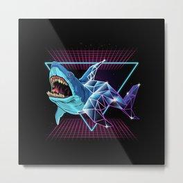 Shark 80s Metal Print