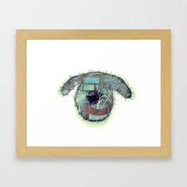 left eye Framed Art Print