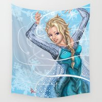 elsa Wall Tapestries featuring Elsa by Brett Parkey