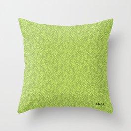 Feathered Flocks - Avocado Throw Pillow