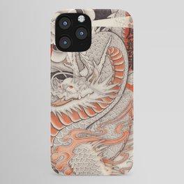 Japanese tattoo Typhoon dragon iPhone Case