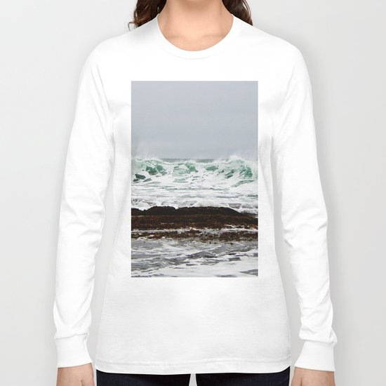 Green Wave Breaking Long Sleeve T-shirt