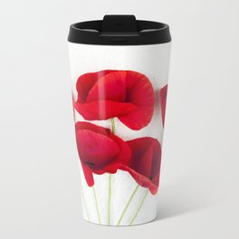 a Bunch Of Red Poppies Travel Mug