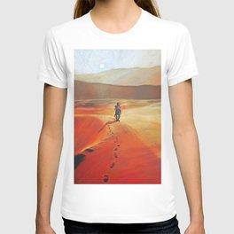 The Martian Mars walk inspired chalk drawing T-shirt