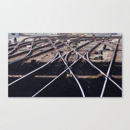 Switch Tracks Canvas Print