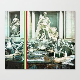 Italian Trevi fountain Rome Canvas Print