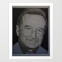 robin williams Art Prints featuring Robin Williams by Elisa Arancibia