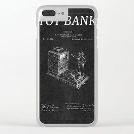 Toy Bank Patent 2 Clear iPhone Case